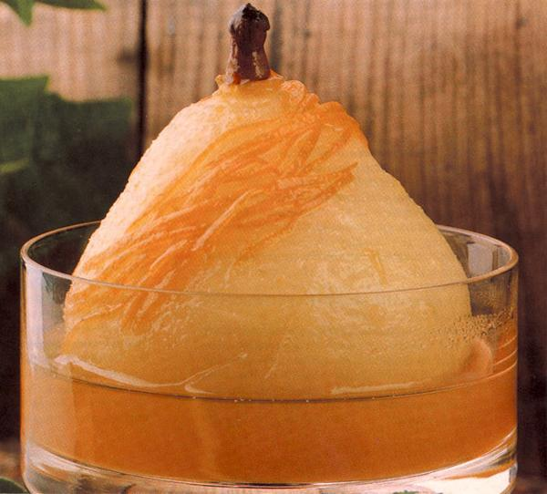 Poached Orange Pears