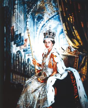 Coronation portrait of HM Queen Elizabeth II, 1953, Cecil Beaton Royal Collection Trust / (C) Her Majesty Queen Elizabeth II 2013.