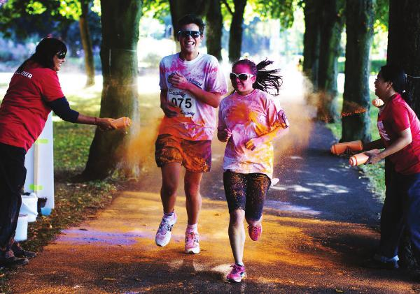 The Laura Centre Colour Me Happy 5k run Held in Leicester on September 8