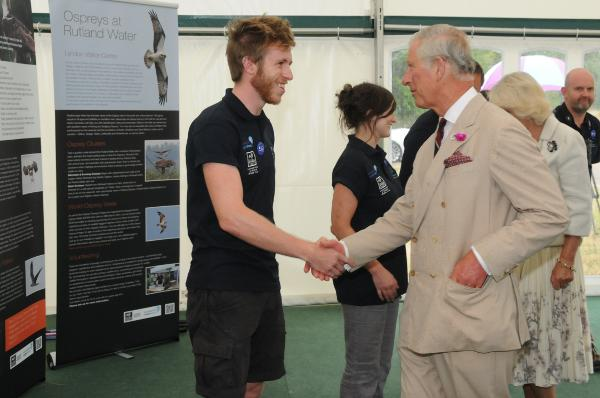 HRH The Prince of Wales and HRH The Duchess of Cornwall meet Rutland Water volunteers