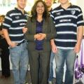 Femi with Tigers rugby stars