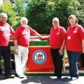 Gerry Smith (Maintenance), Geoff Palmer (Trustee), Pete Anderson (Chairman) and Sue Smith