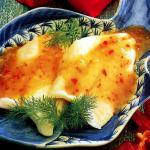 Grilled fish with coriander sauce