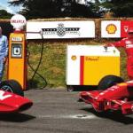 surtees and Räikkönen Delight Fans at shell Goodwood Hillclimb