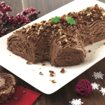 Salted Pecan Praline Yule Log