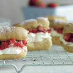 Strawberry Basil Éclairs