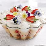 Strawberry Trifle with Pimms