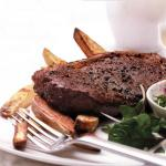 Salsa Steaks with Chunky Chips
