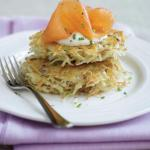 Crispy Potato Pancakes With Smoked Salmon And Sour Cream