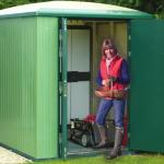 Police approve garden shed made from rubbish