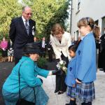 Lady Gretton visits Leicester High School
